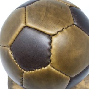 сделали свой собственный футбольный мяч из кожи