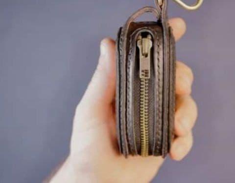 Выкройка ключница из кожи