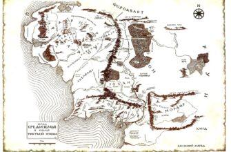 Карта тиснения