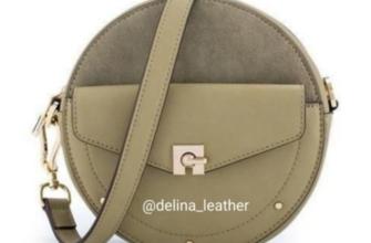 Круглая сумочка от Delina Leather