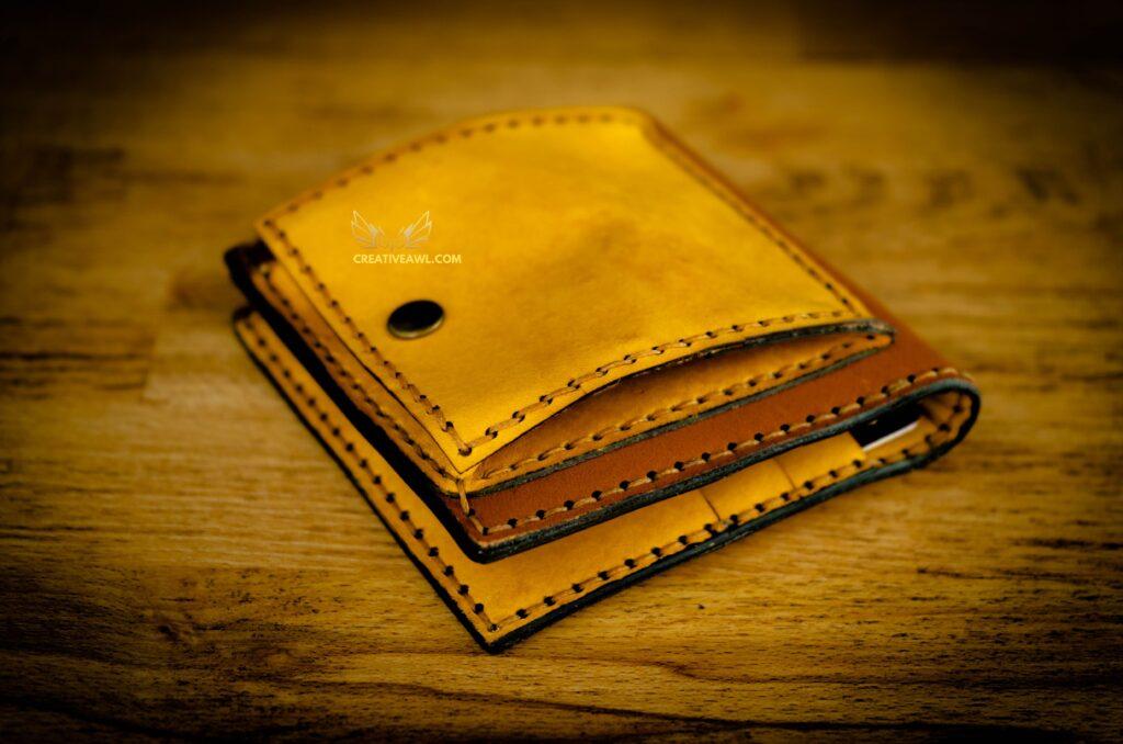 Выкройка портмоне из кожи