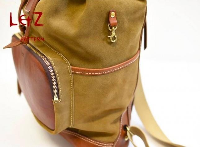 Выкройка рюкзак из кожи от LZpattern